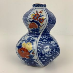 Asian Porcelain Floral Vase